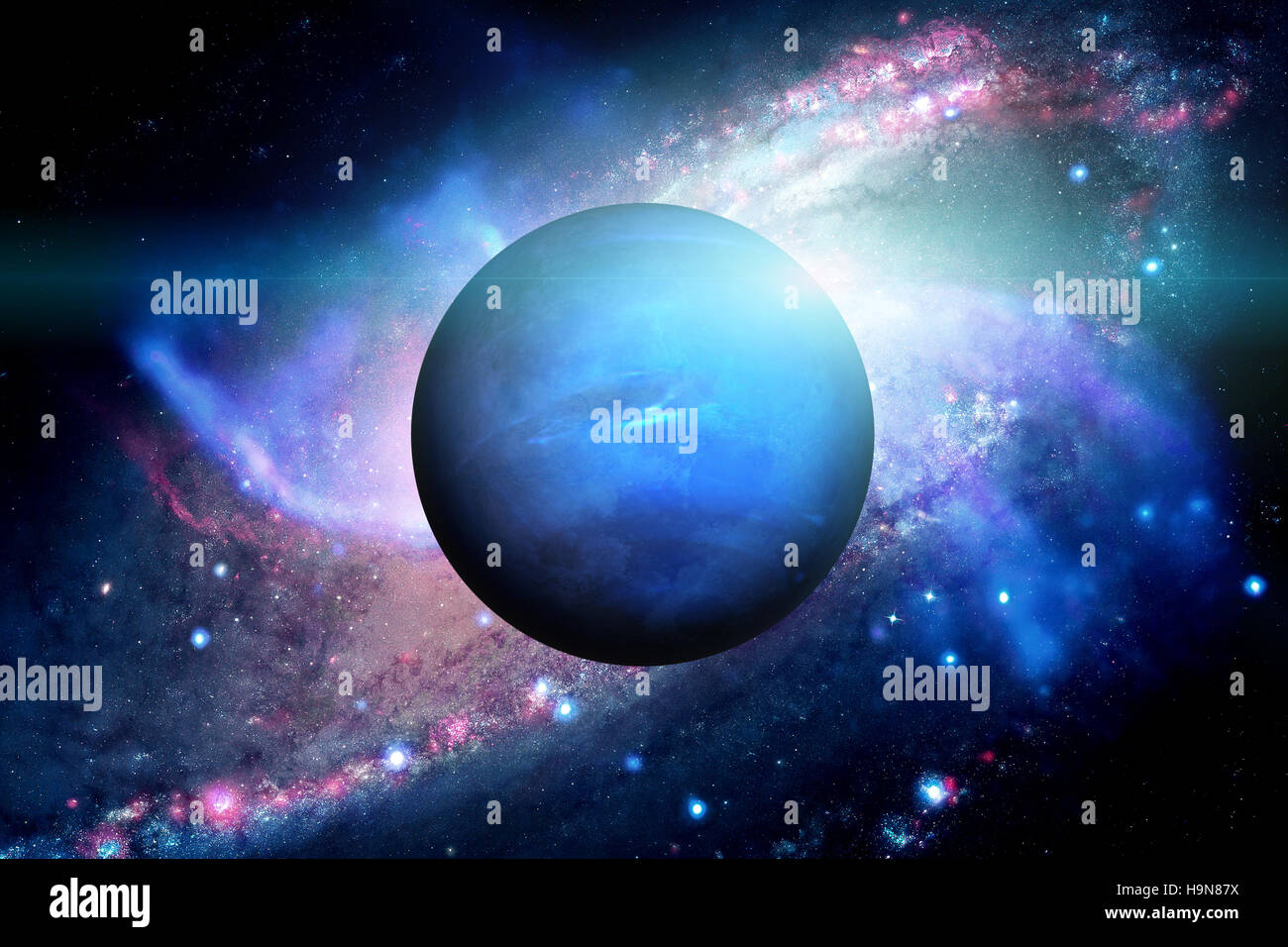 Planet Neptune. Outer space background Stock Photo ...