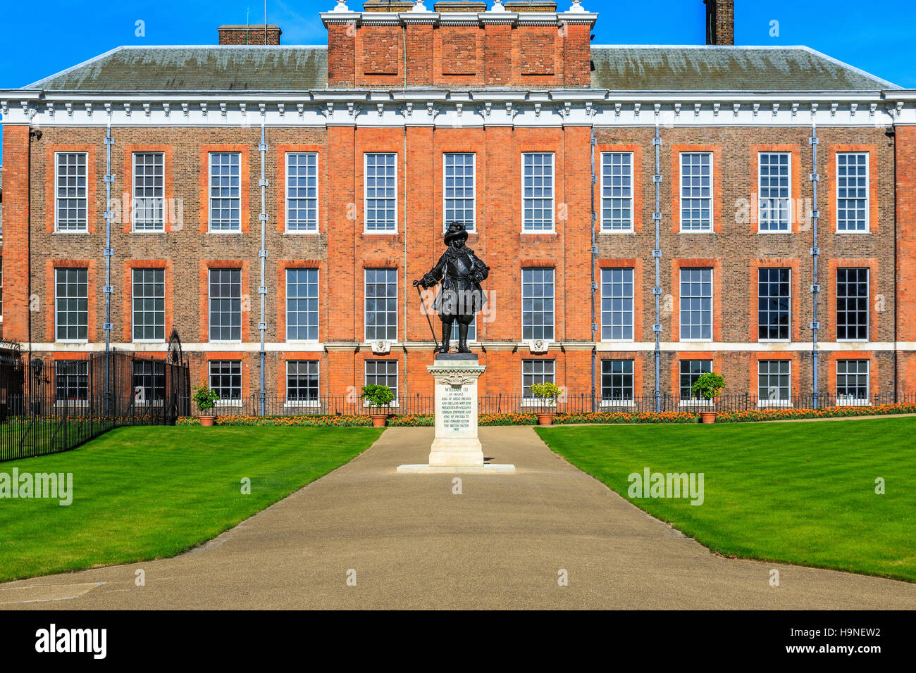 Kensington Palace in Hyde Park, London - Stock Image