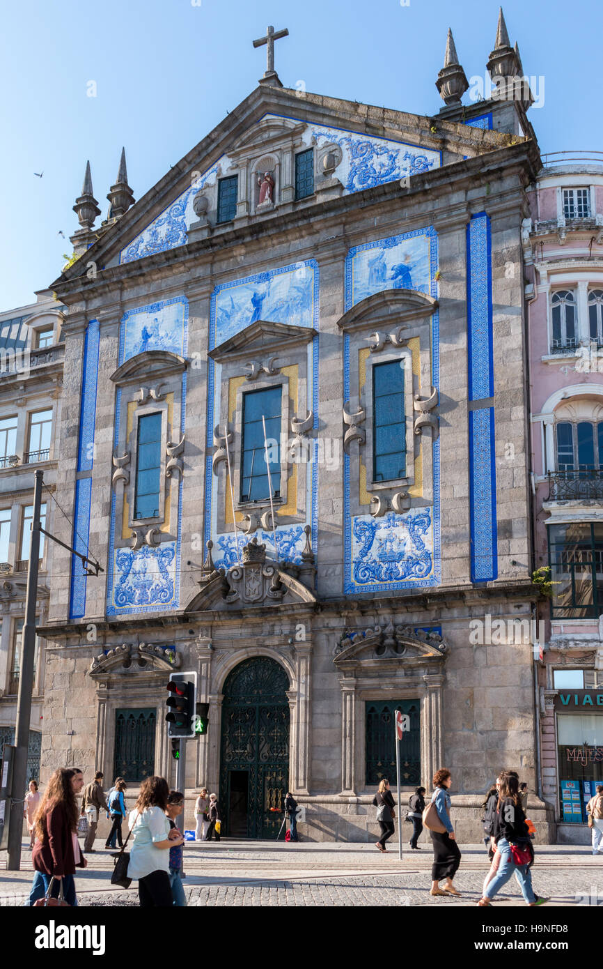 Santo Ildefonso baroque church in Porto of Portugal, 23 may 2014 - Stock Image