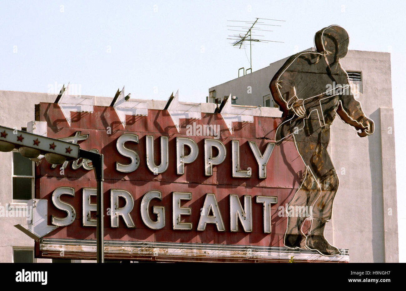 Supply Sergeant sign for army surplus store on Hollywood