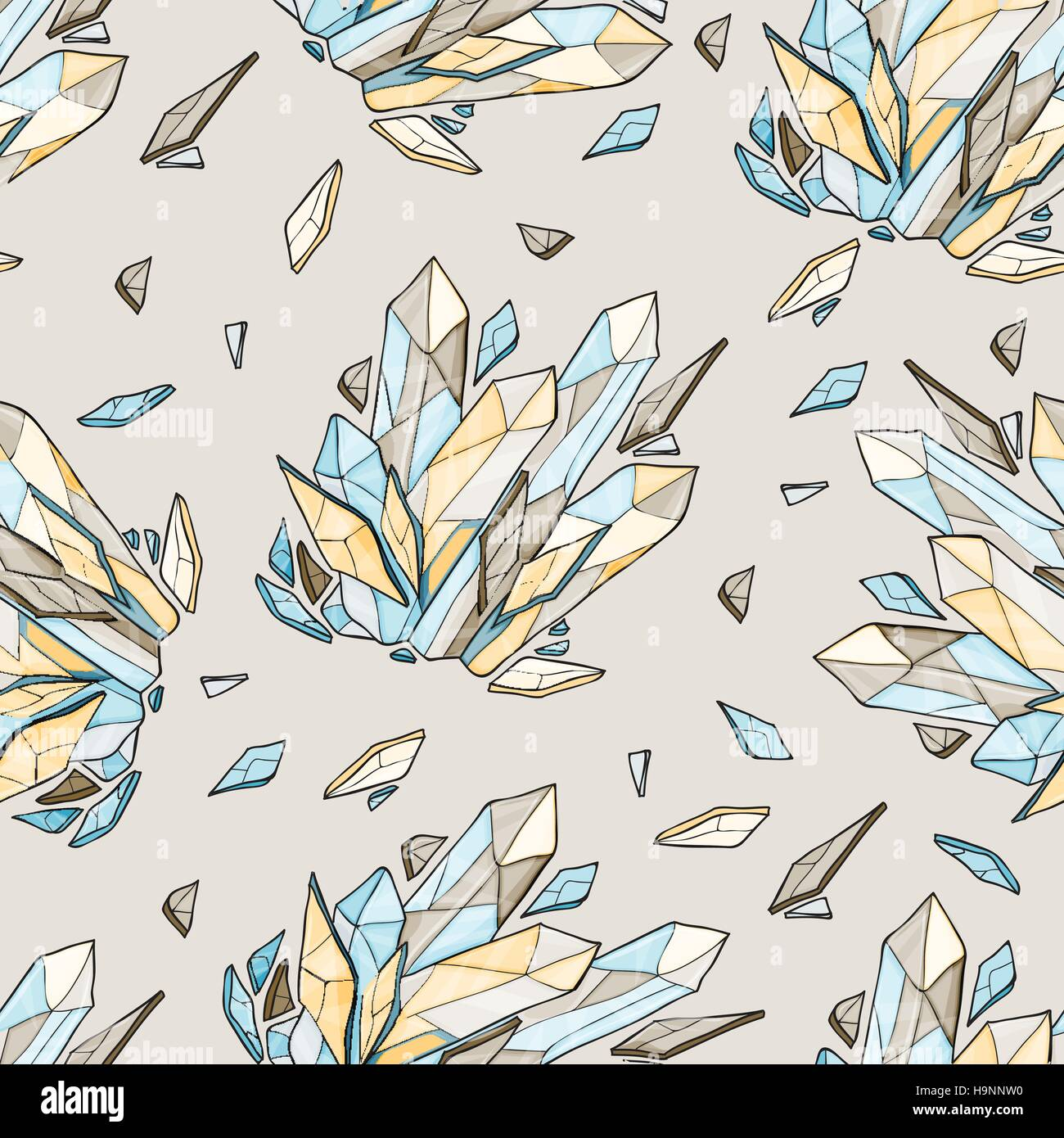 Vector seamless background of diamonds - Stock Vector