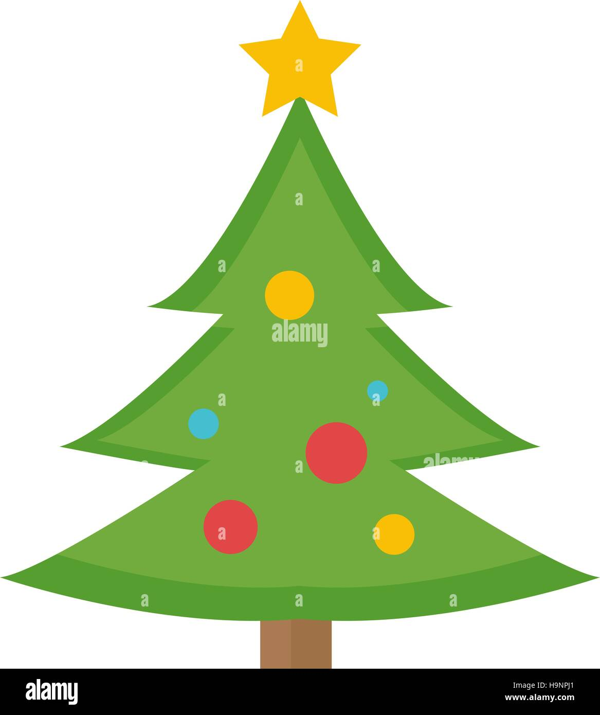 Christmas Tree Icon.Christmas Tree Vector Icon Isolated On White Background