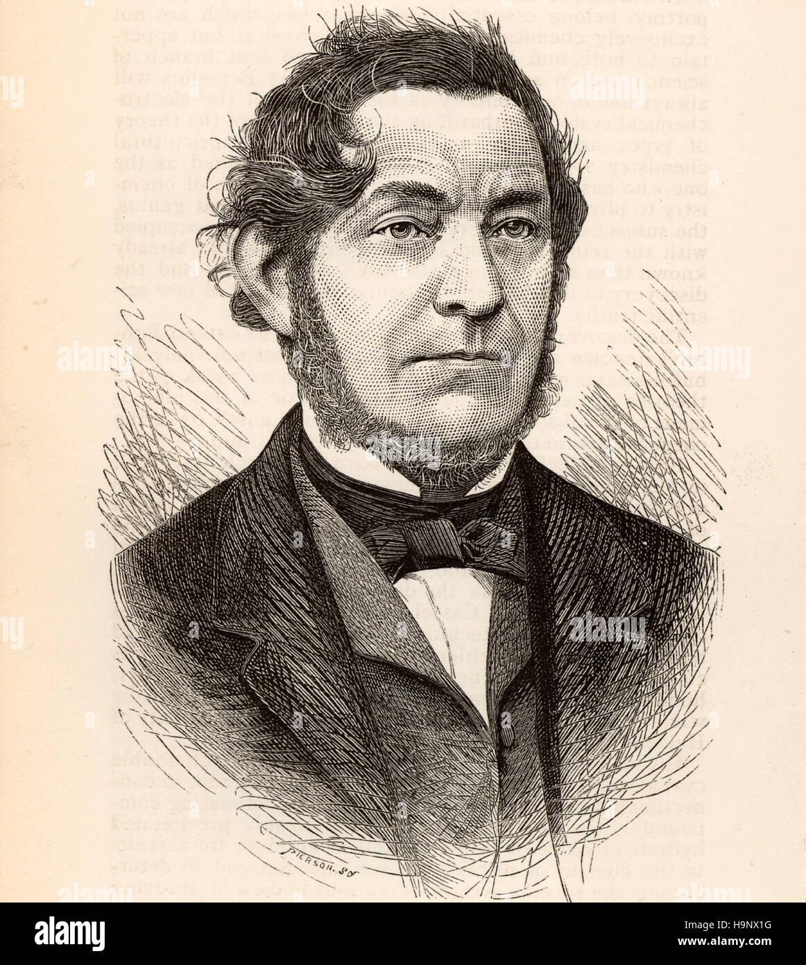 Robert Wilhelm Eberhard von Bunsen -German scientist - Stock Image