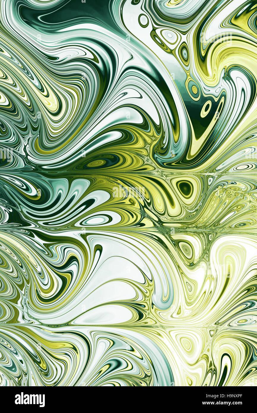 swirly colourful background - Stock Image