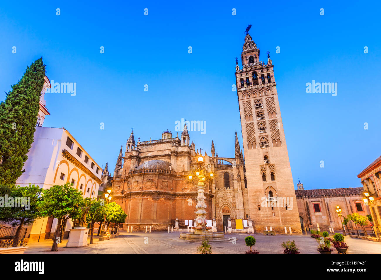 Seville, Spain. Cathedral of Saint Mary of the See. - Stock Image