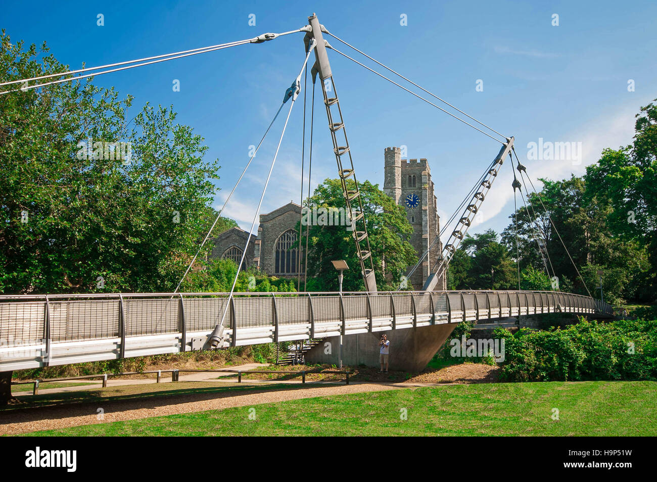 A picture of the Millennium Bridge in Maidstone - Stock Image