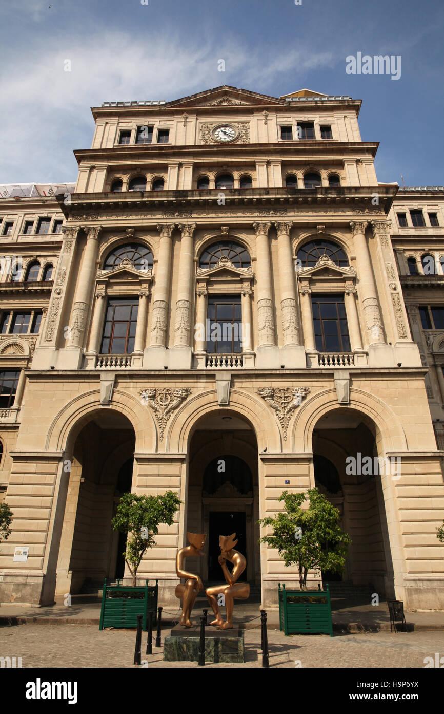 The Lonja del Comercio (Commerce Market) building in Old Havana, Cuba. Previously the Stock Exchange. Stock Photo