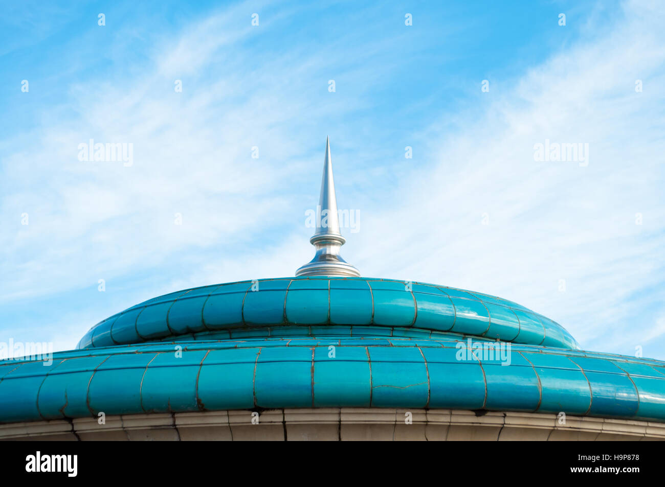 Roof and Steel Spire of Eastbourne Bandstand - Stock Image