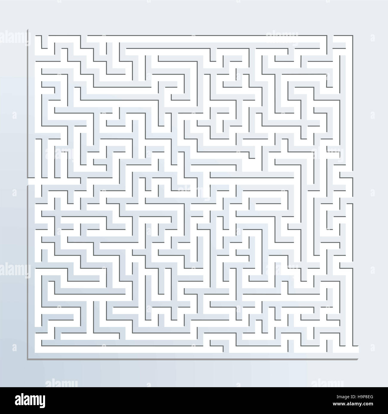 dimensional maze - Stock Image