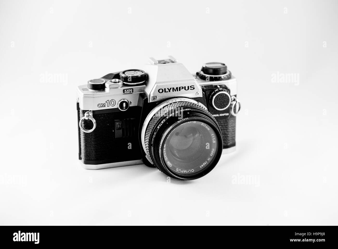 Olympus OM10 SLR Film Camera - Stock Image