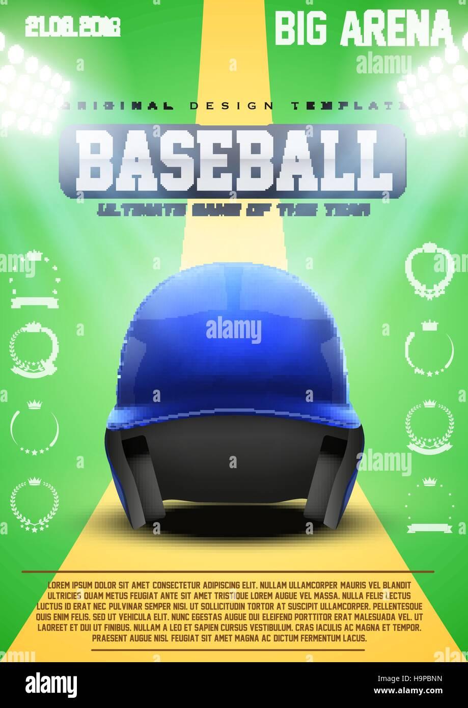 Poster Template of Baseball Stock Vector