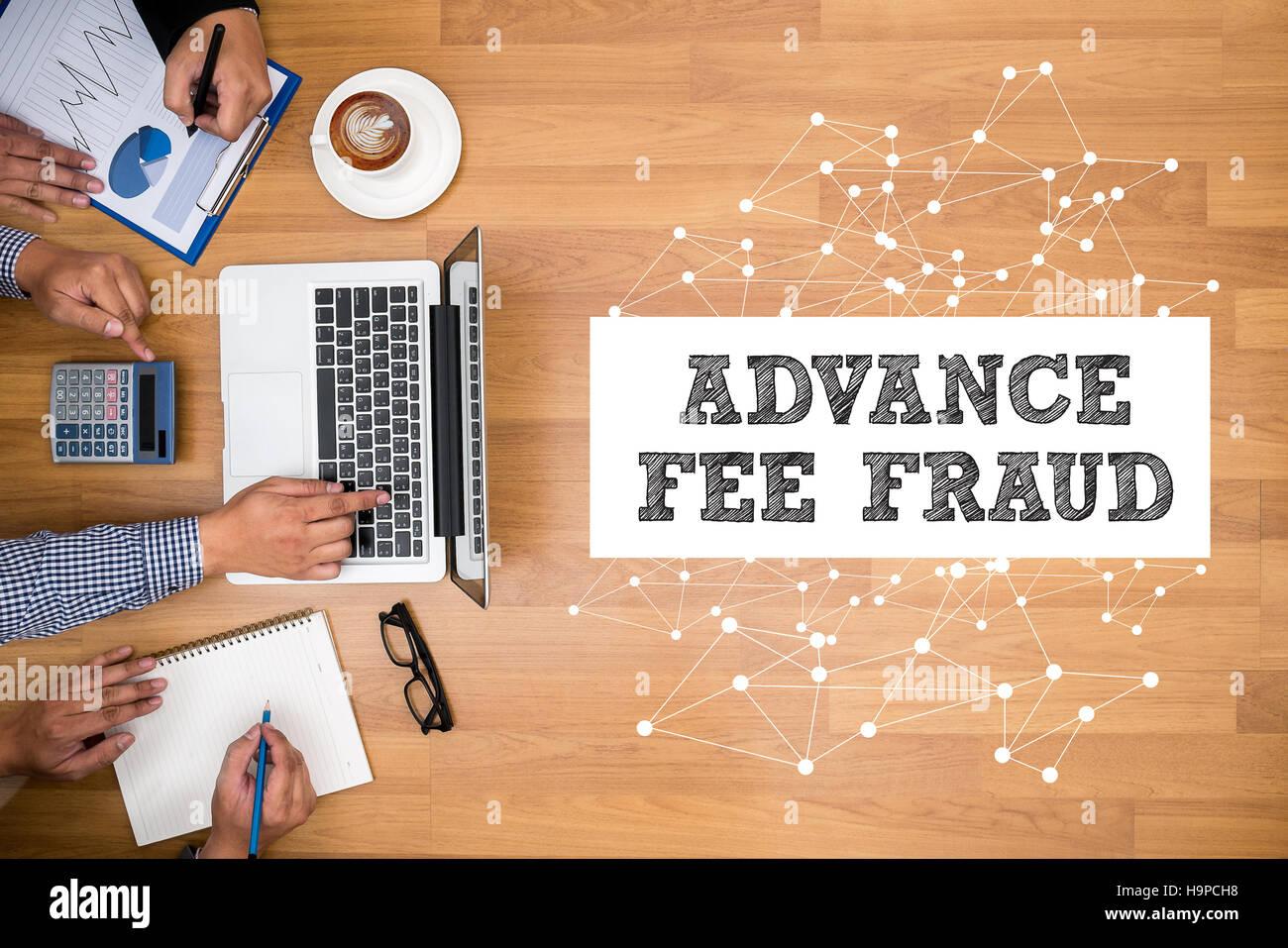 ADVANCE-FEE FRAUD - Stock Image