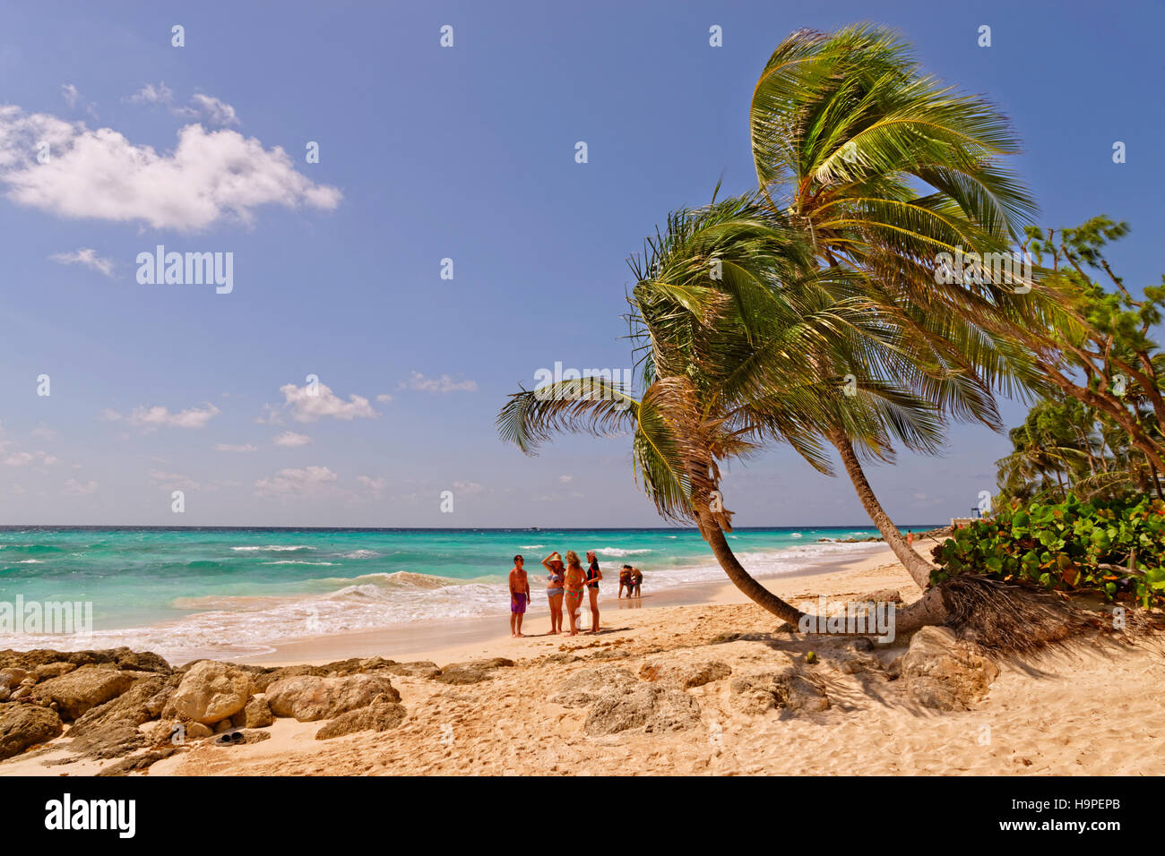 Dover Beach, St. Lawrence Gap, South Coast, Barbados, Caribbean. - Stock Image