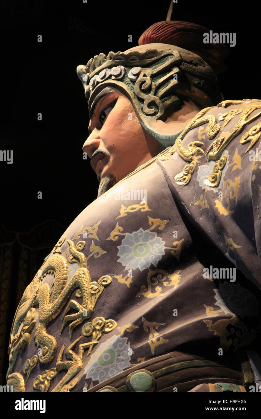 China, Zhejiang, Hangzhou, Yue Fei Temple, statue, Stock Photo