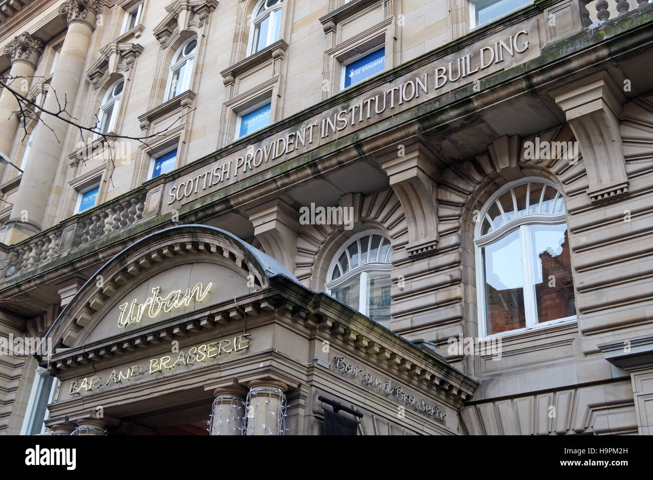 Scottish provincial institution building, Glasgow city centre, Scotland - Stock Image