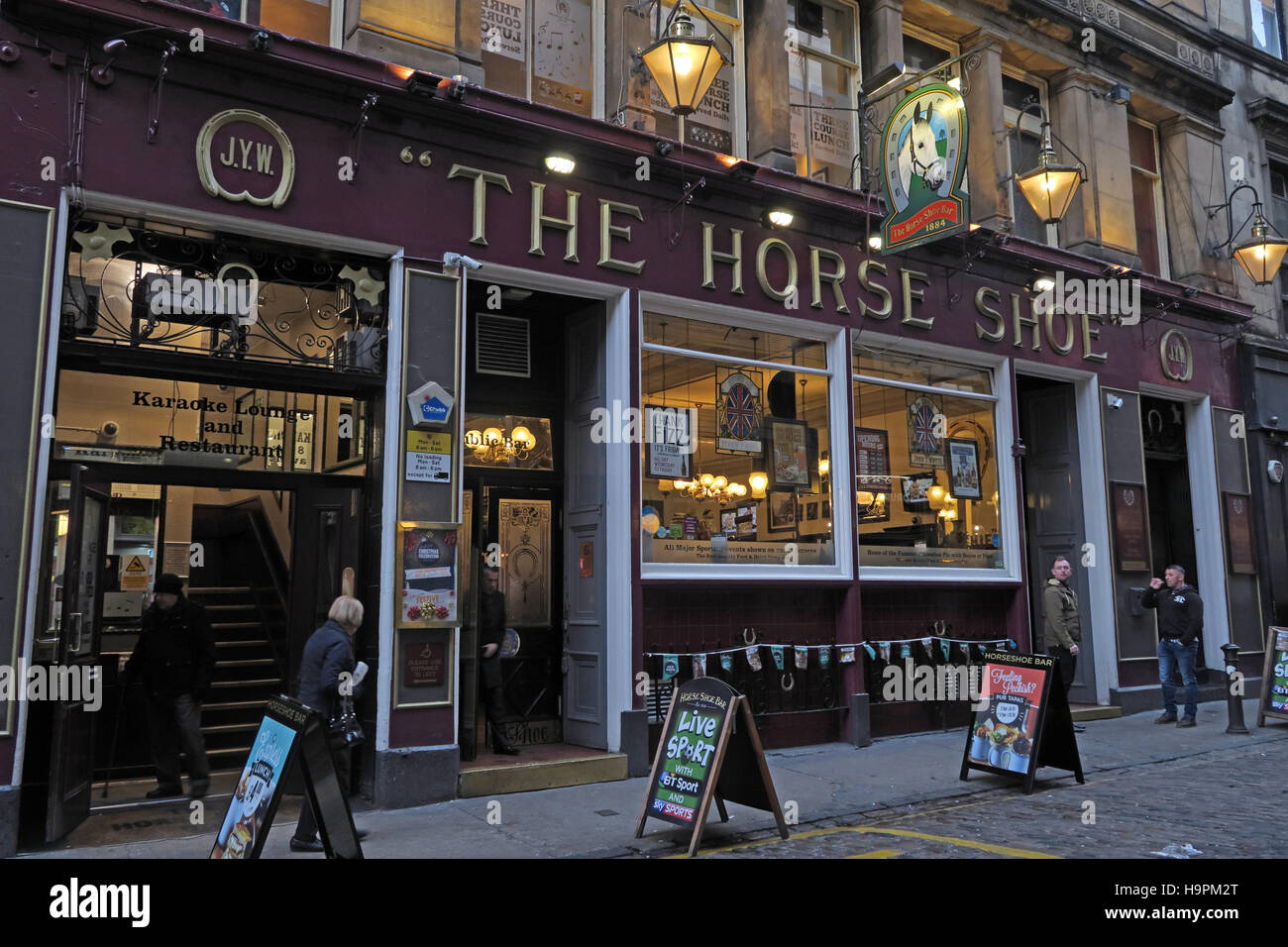 The Horse Shoe Bar, Glasgow, Scotland - Stock Image