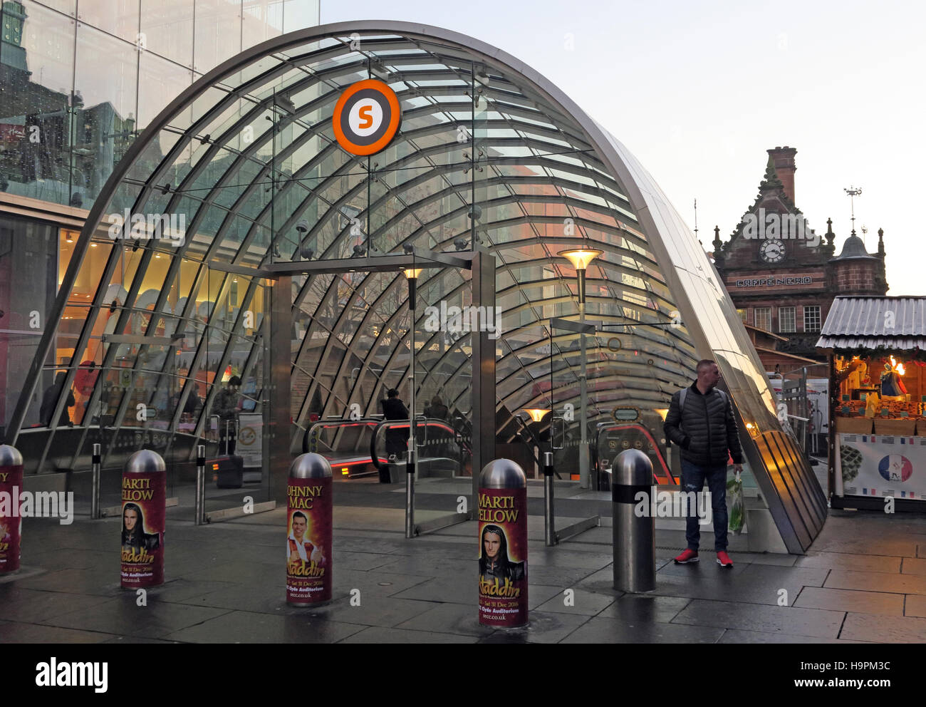 St Enoch subway Underground Station, Glasgow,Scotland - Stock Image