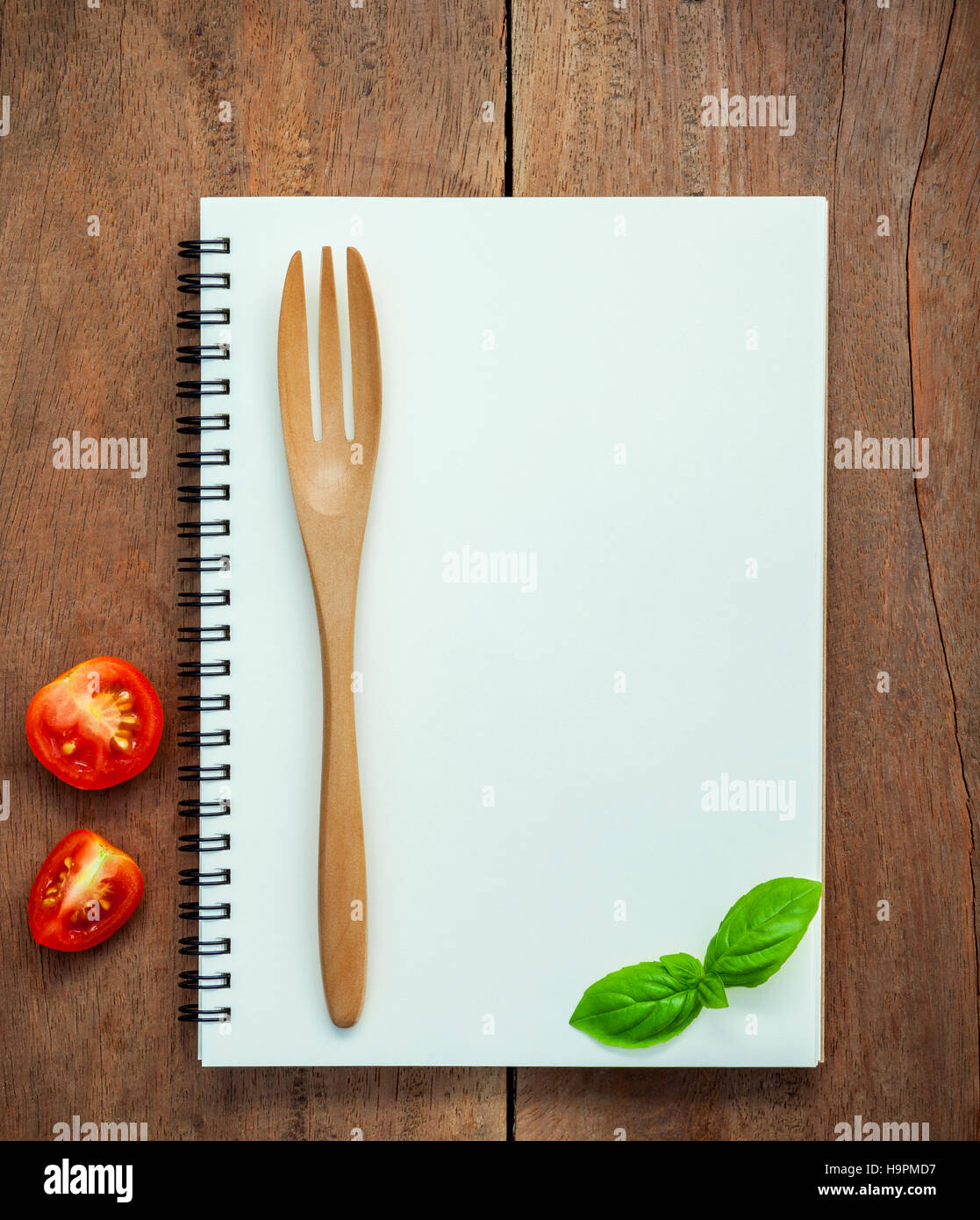 foods background and food menu design sweet basil and cherry tom