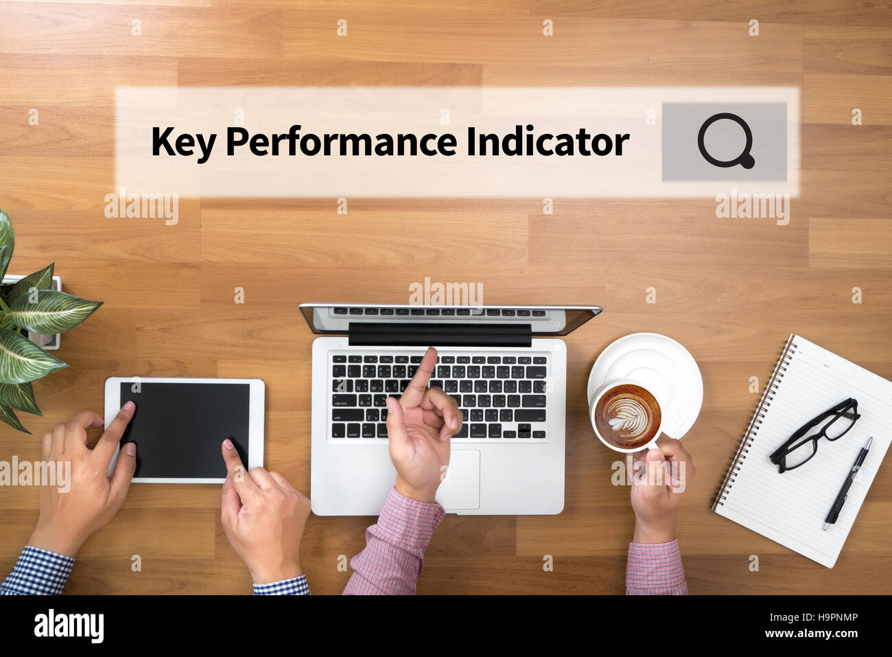 KPI acronym (Key Performance Indicator) - Stock Image