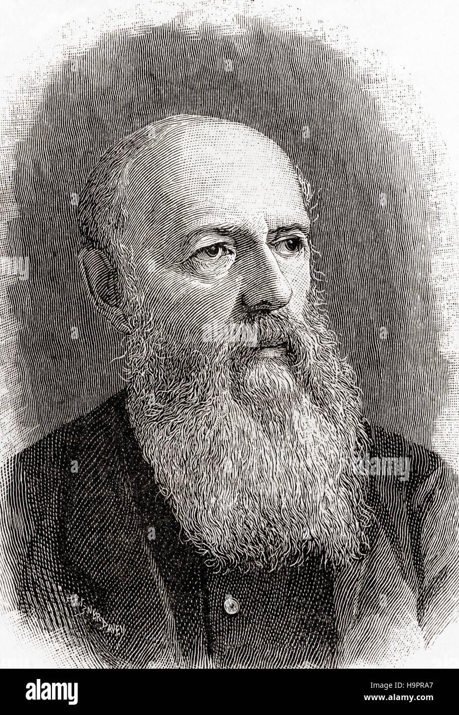Sir Wilfrid Lawson, 2nd Baronet of Brayton, 1829 – 1906. English temperance campaigner and radical, anti-imperialist - Stock Image