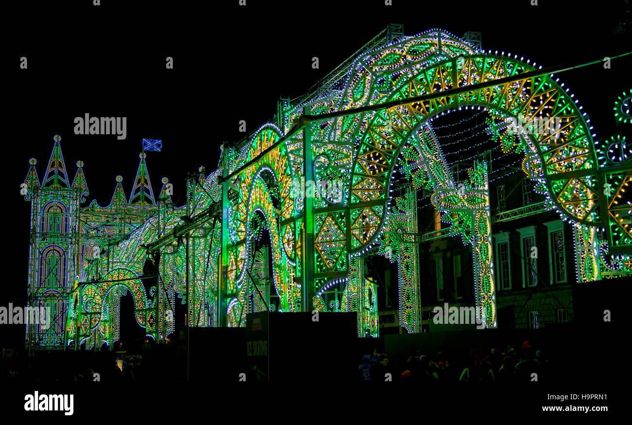 Street of light, George Sreet Edinburgh Scotland - Stock Image