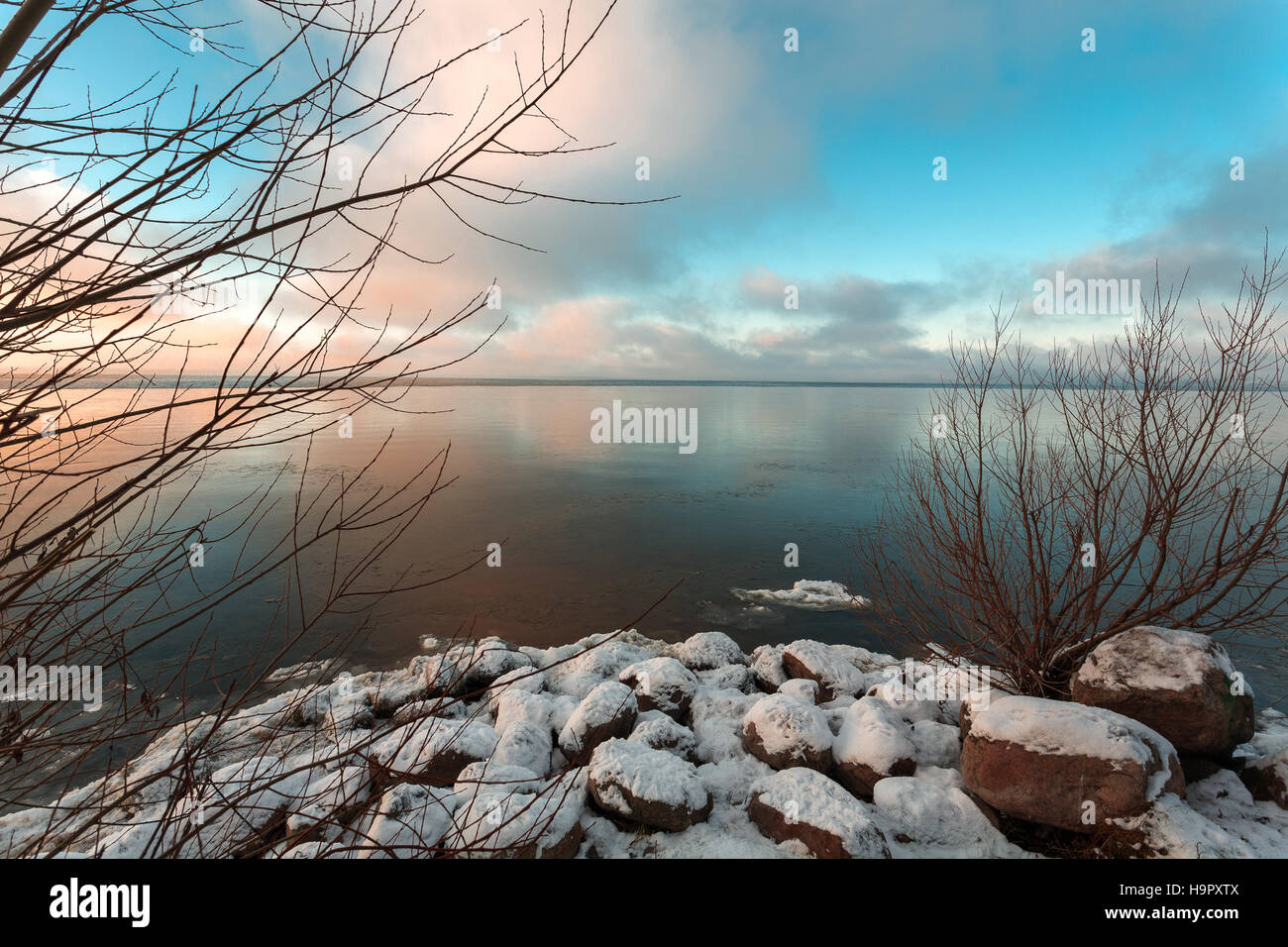first thin ice - Stock Image