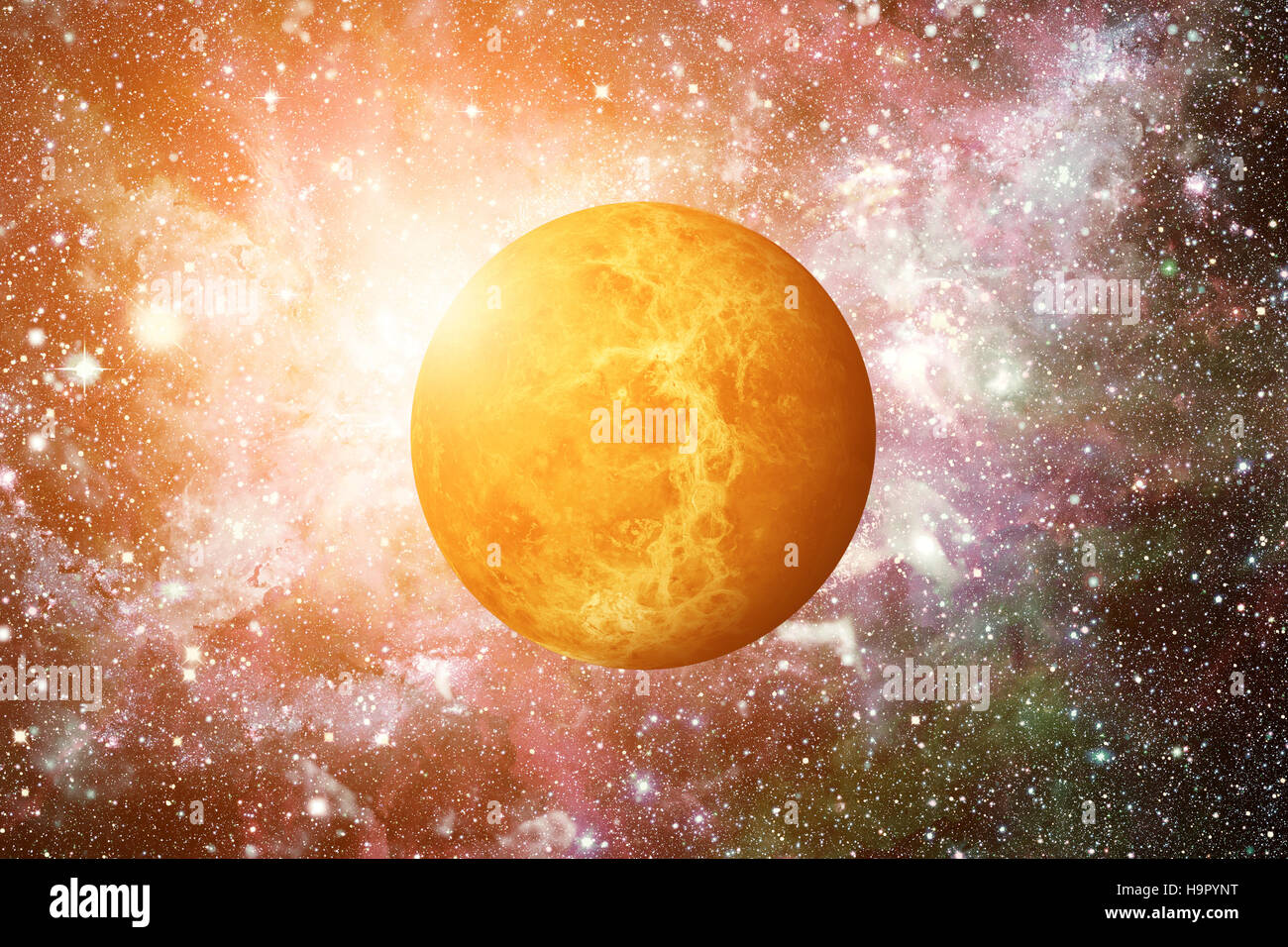 Planet Venus. Elements of this image furnished by NASA. - Stock Image