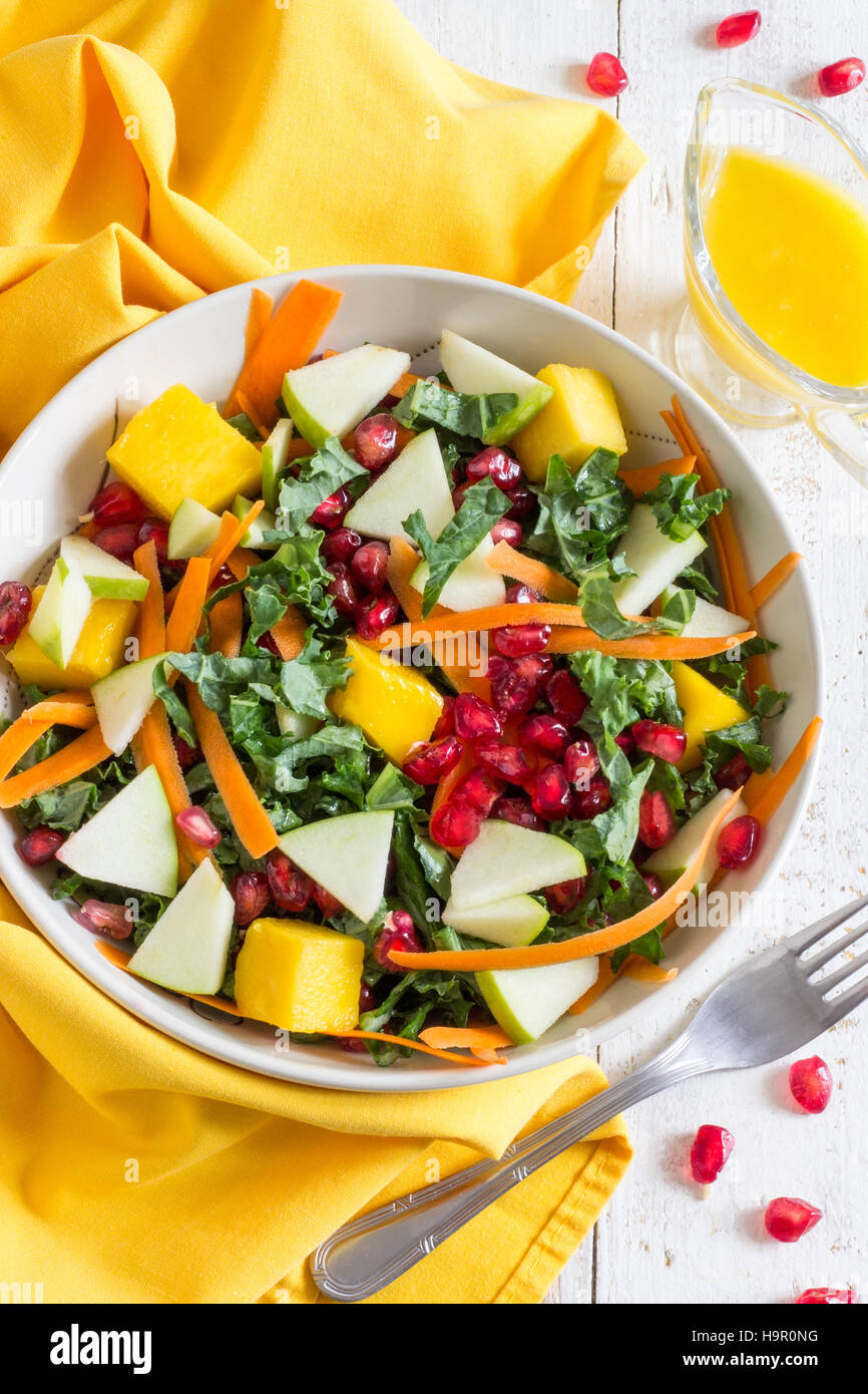 Healthy Kale Salad - Stock Image