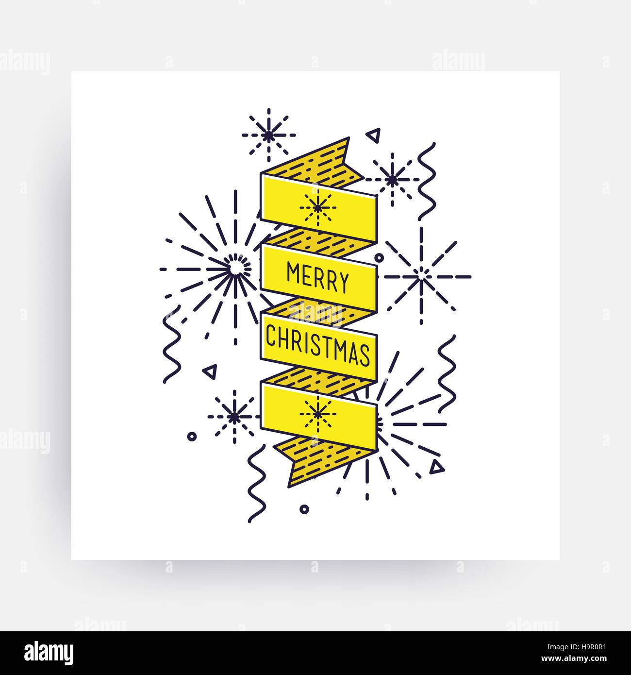 Merry christmas new year design linear flat icon bright simple merry christmas new year design linear flat icon bright simple vector illustrations for greeting card posters print mobile phoned designs ads p m4hsunfo