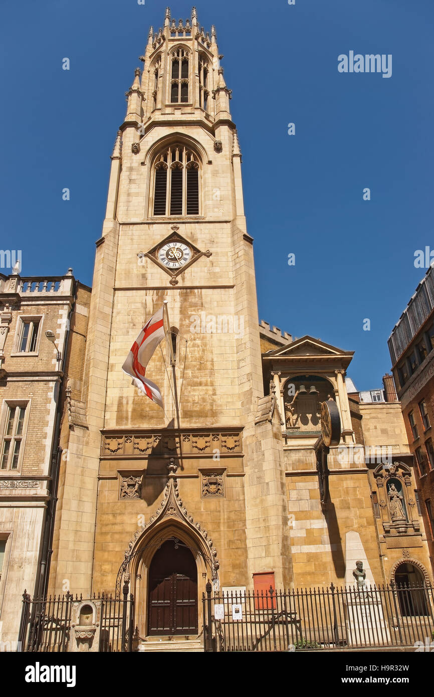St Dunstan in the West Church in Fleet Street of the City of London in the UK. Stock Photo