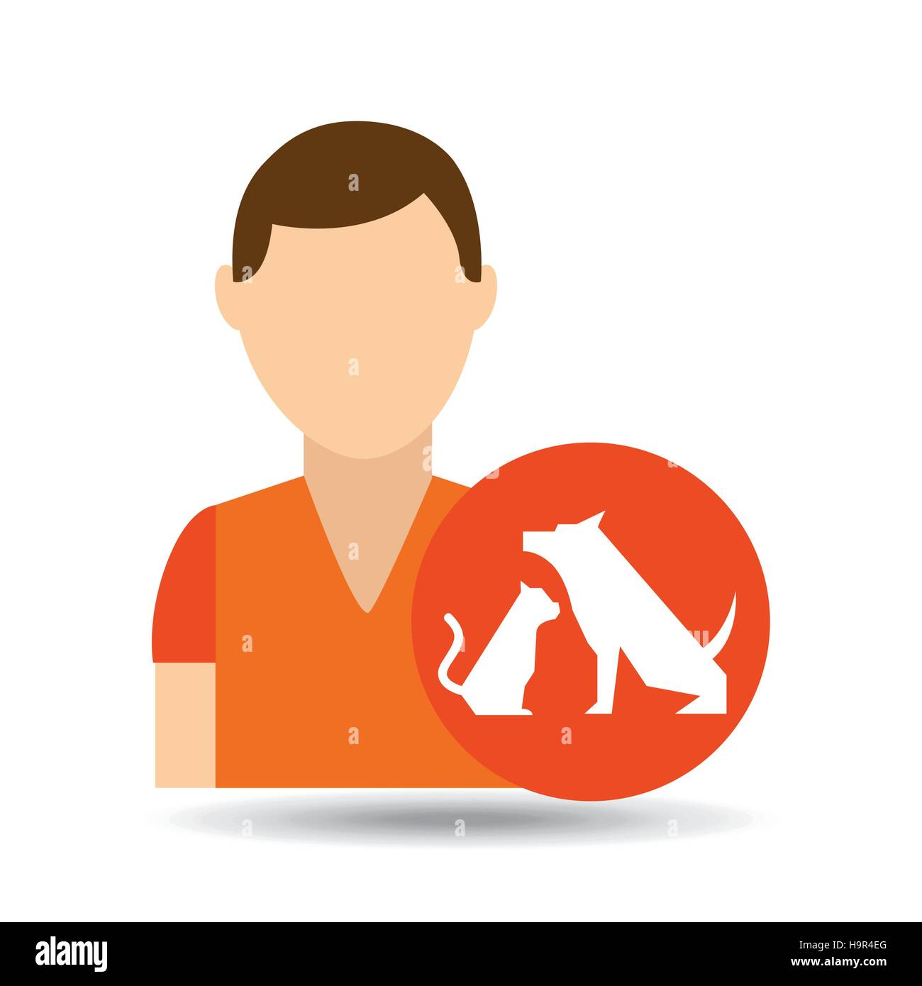 character pet training dog and  vector illustration eps 10 - Stock Image