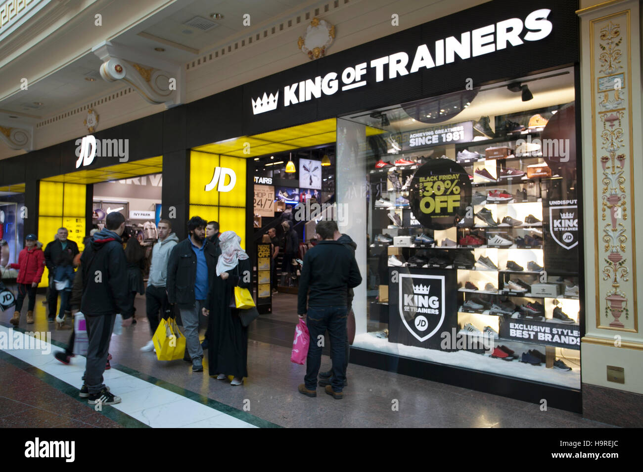 Trainers at INTU Trafford Centre Stock