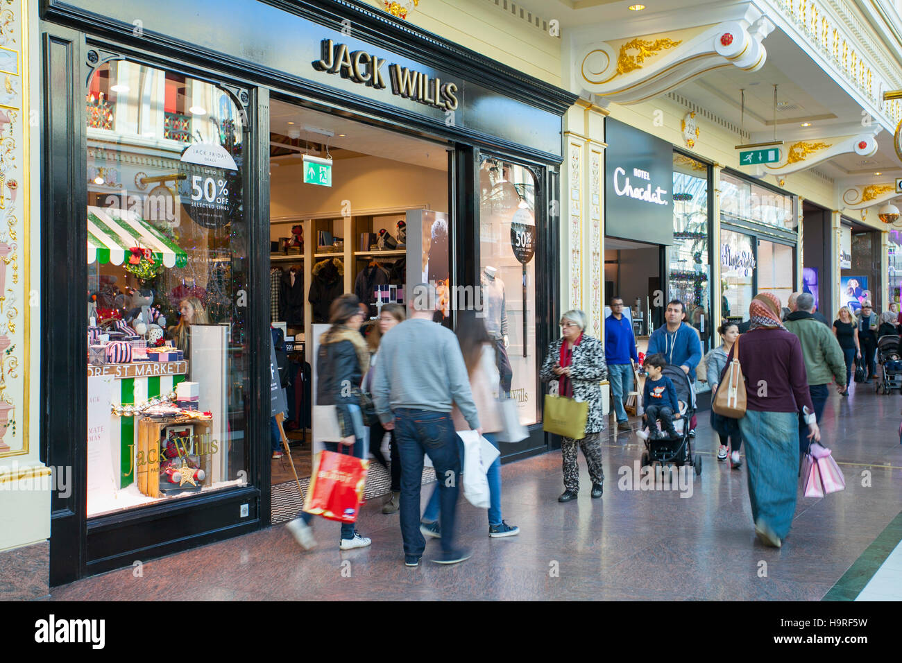 Jack Wills store in the INTU Trafford Centre  Manchester. UK  25th November, 2016. Black Friday Sales Weekend at - Stock Image