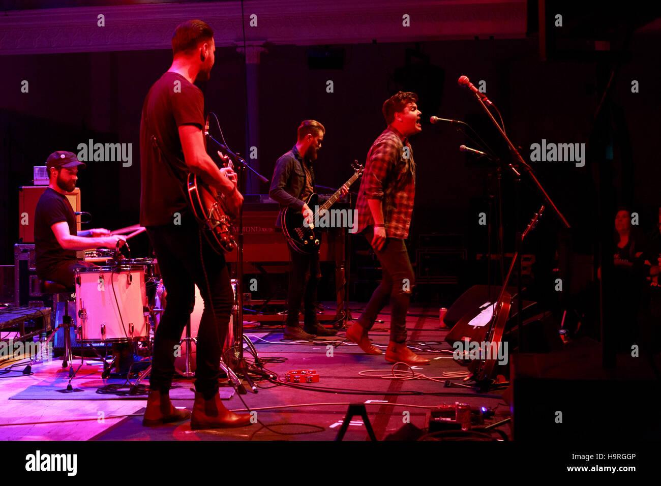 Edinburgh, UK. 25th November 2016. Broken Witt Rebels performs on stage at the Edinburgh Queen's Hall. Pako - Stock Image