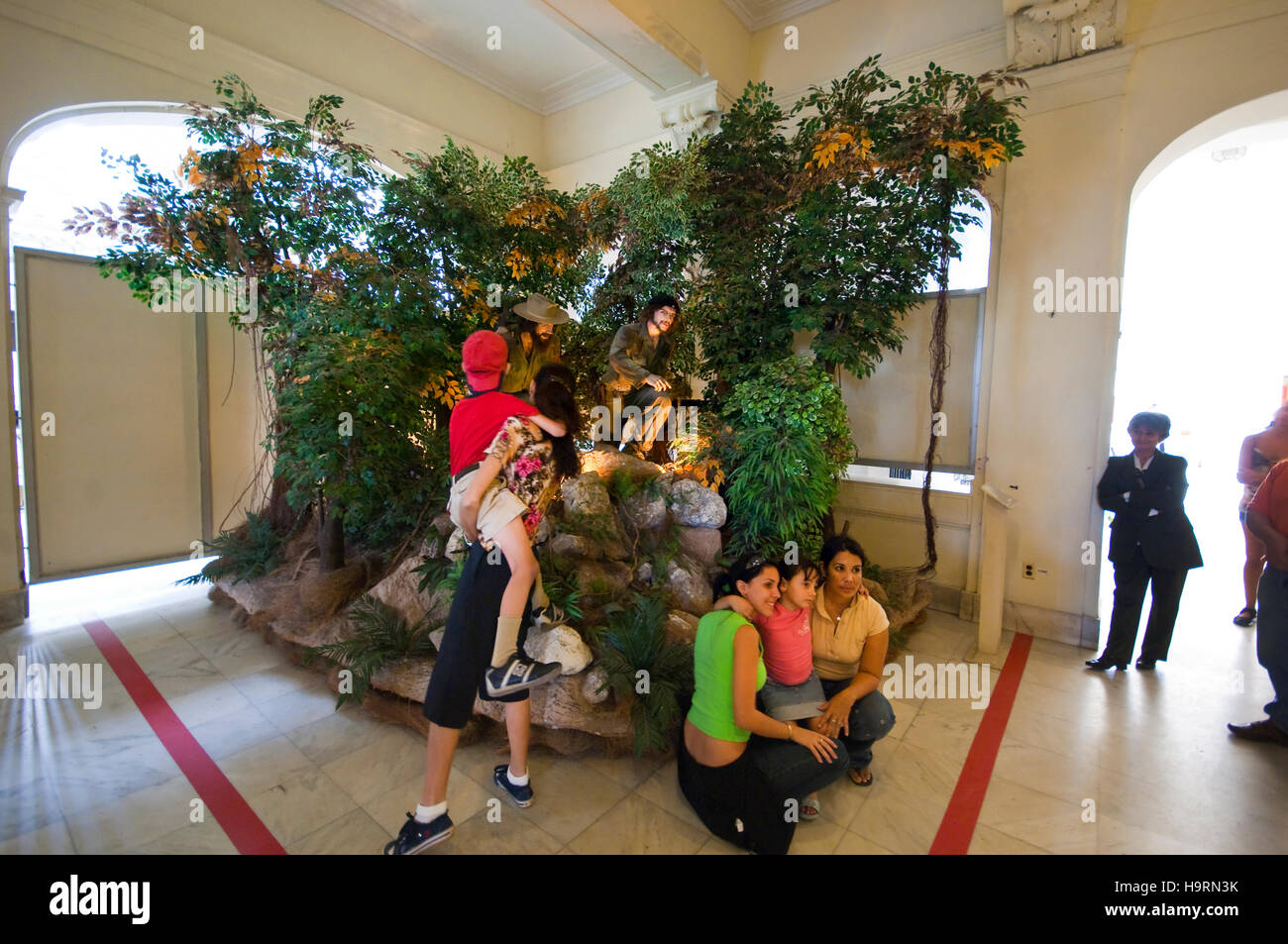 che guevara and fidel castro, Museum of the revolution, Havana, Cuba, Caribbean Stock Photo