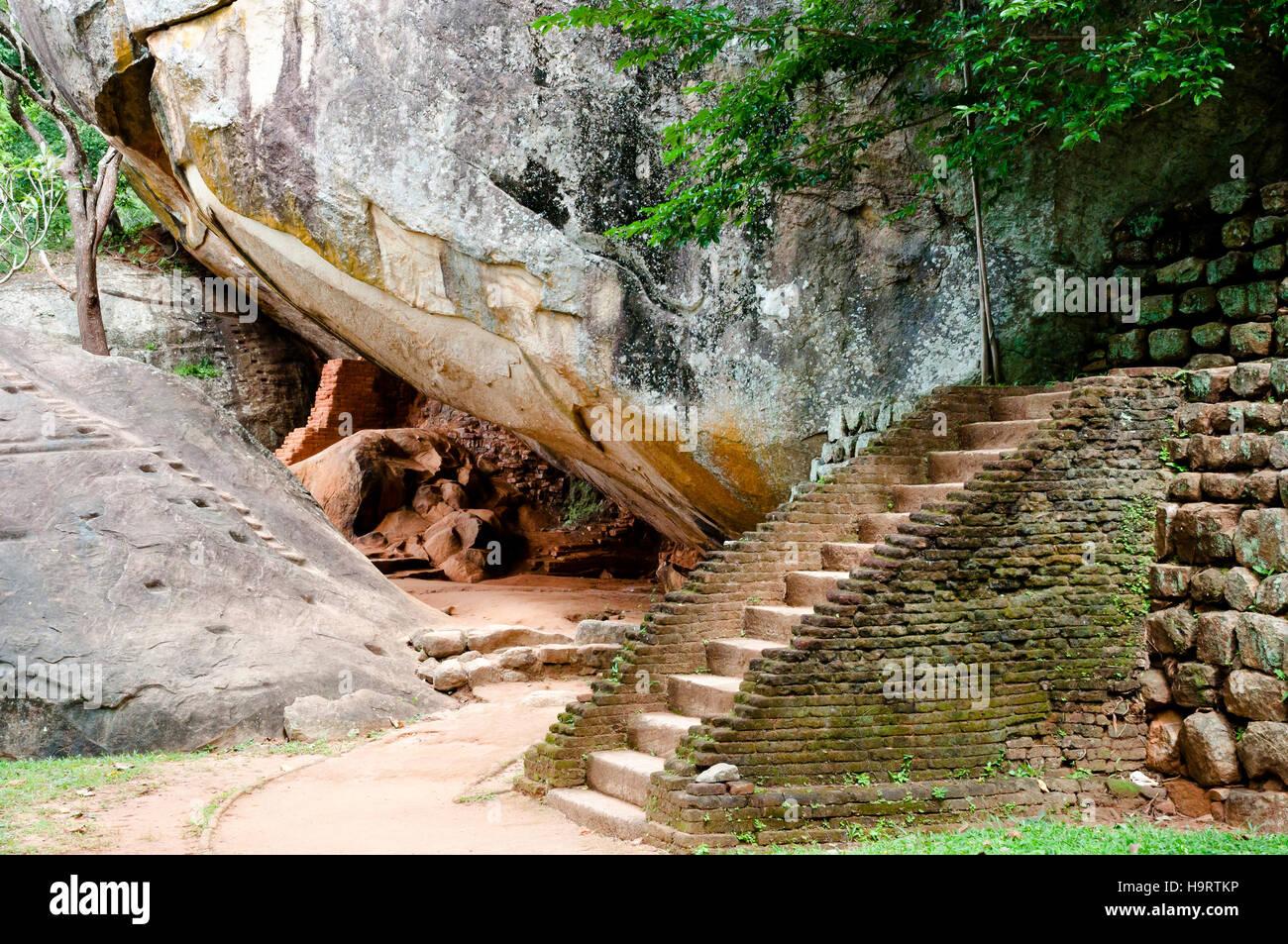 Sigiriya Boulder Garden   Sri Lanka   Stock Image