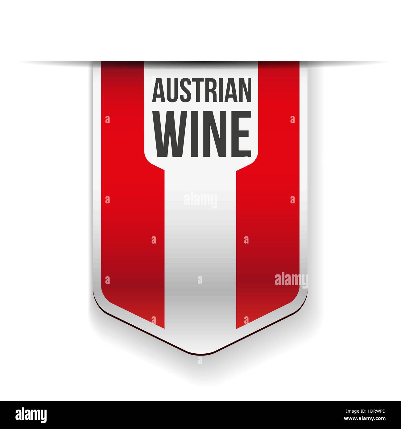 Austrian Wine flag ribbon Stock Vector