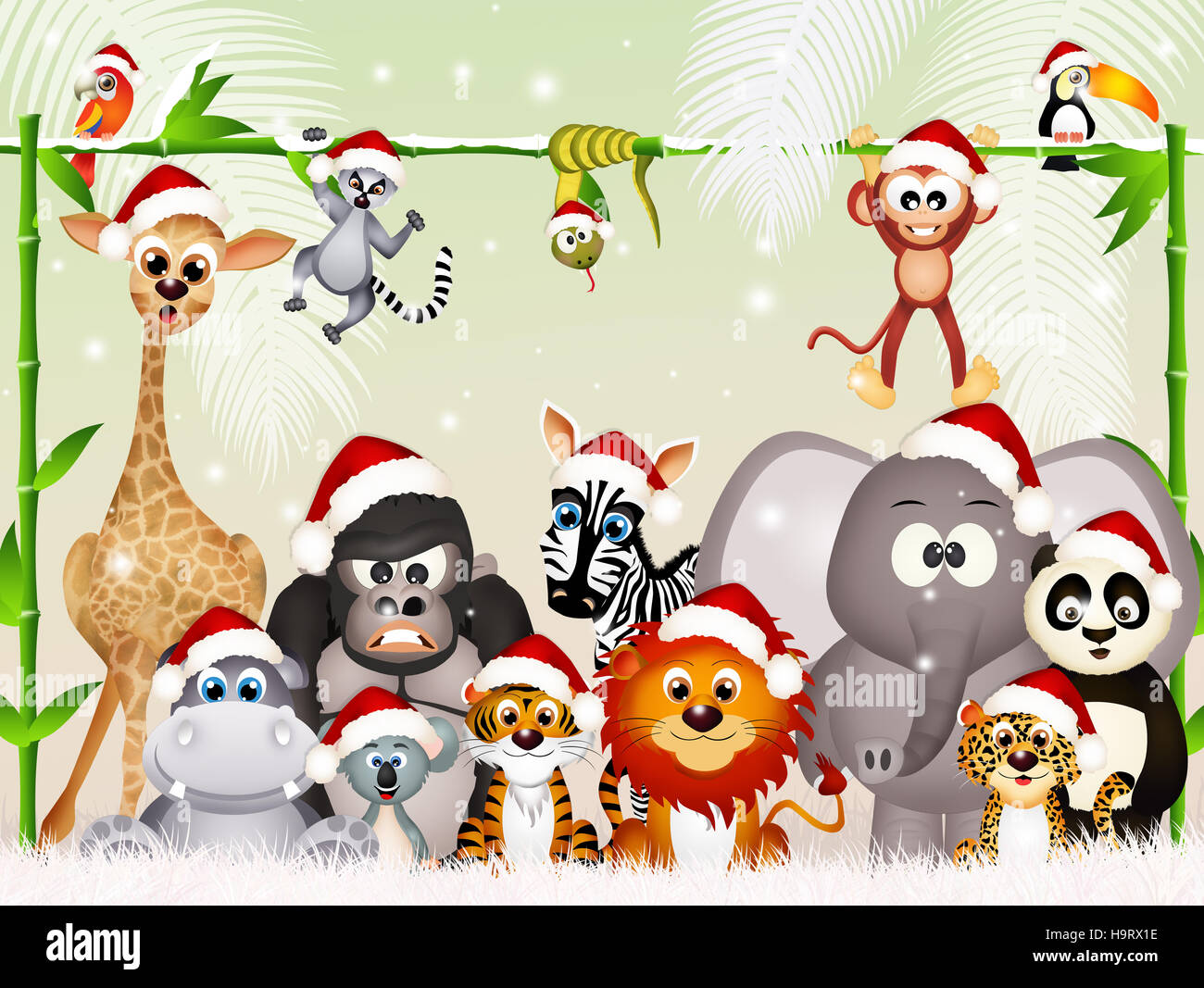 Wild Animals At Christmas Stock Photo 126529802 Alamy