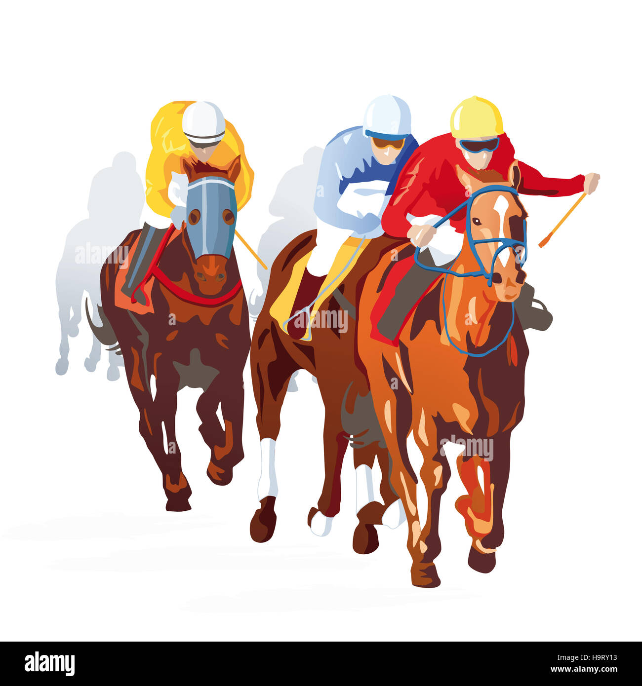 Thoroughbred Race Horse Cut Out Stock Images Pictures