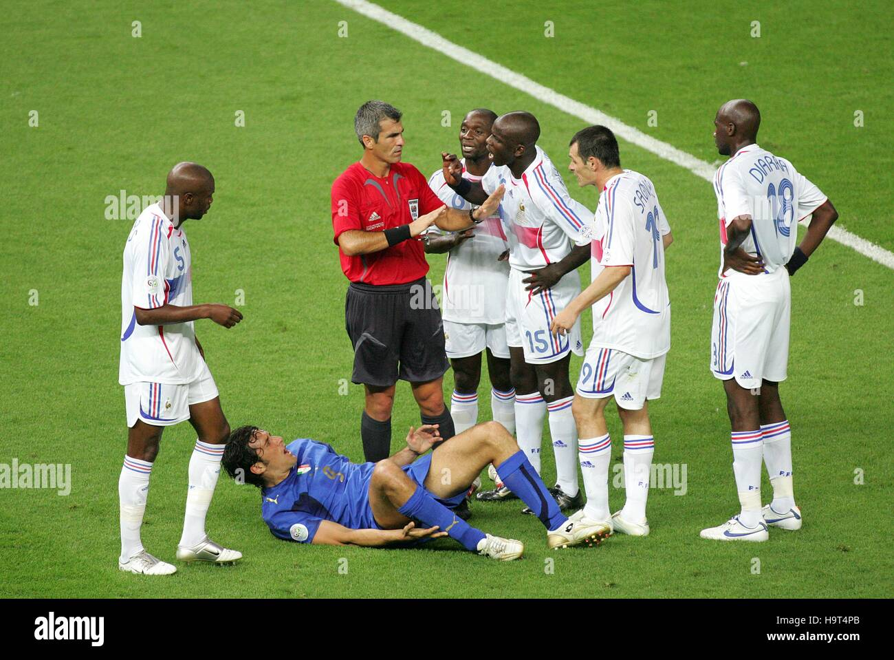 FRENCH TEAM APPEAL ITALY V FRANCE OLYMPIASTADION BERLIN GERMANY 09 July 2006 - Stock Image
