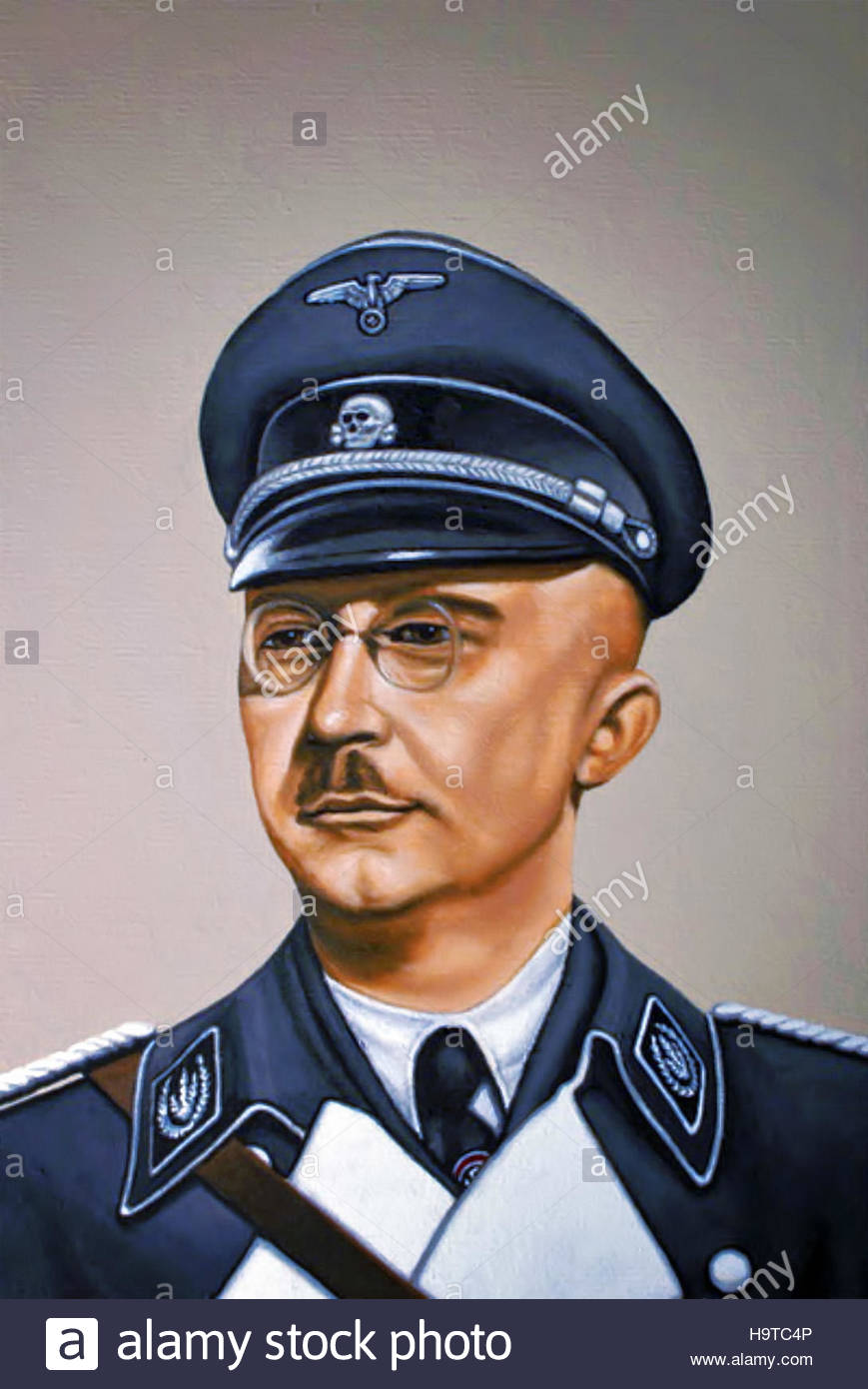 Heinrich Himmler was Reichsführer of the Schutzstaffel (Protection Squadron; SS), and a leading member of the - Stock Image