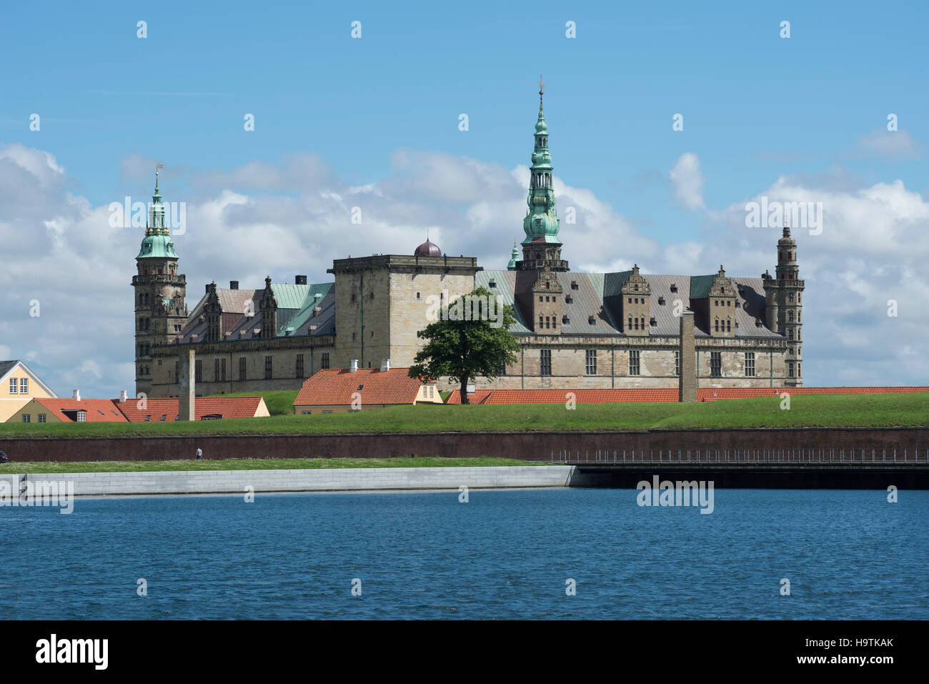 Kronborg Castle and fortress in Elsinore, Denmark - Stock Image