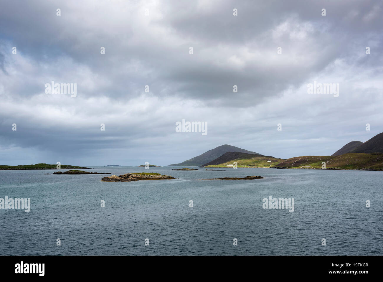 Coastline, Isle of Harris, Leverburgh, Outer Hebrides, Scotland, United Kingdom - Stock Image