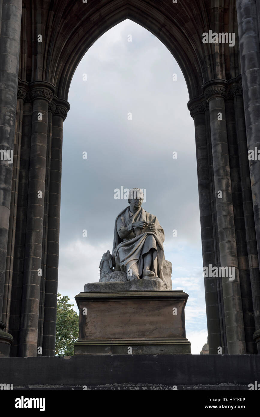 Monument to poet and writer Sir Walter Scott, Scott Monument, Princes Street Gardens, Edinburgh, Scotland, United - Stock Image