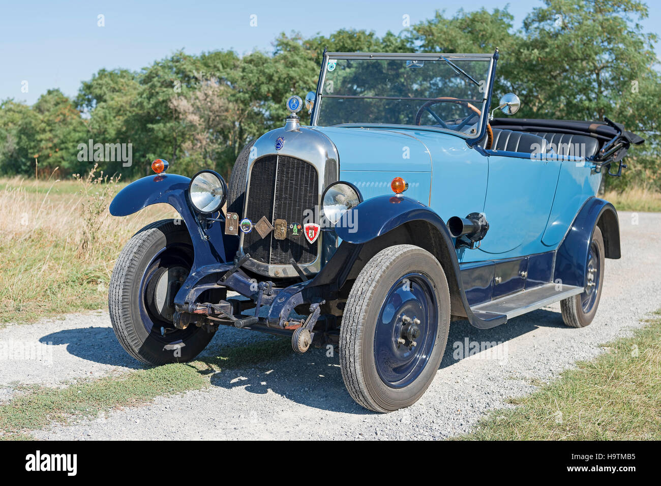 Vintage car, Citroen B10, Torpedo Commerciale, built in 1925, 4-cylinder inline engine, engine capacity 1470 cc, Stock Photo