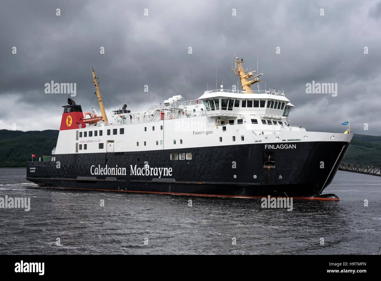 The Ferry Finlaggan, Ferry between Scotland and the Isle of Islay, Tarbert, Argyll and Bute, Scotland, United Kingdom Stock Photo