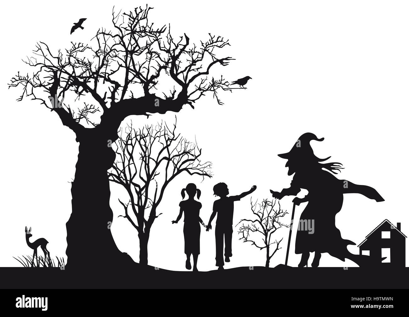 Hansel and Gretel, fairy tales, - Stock Image
