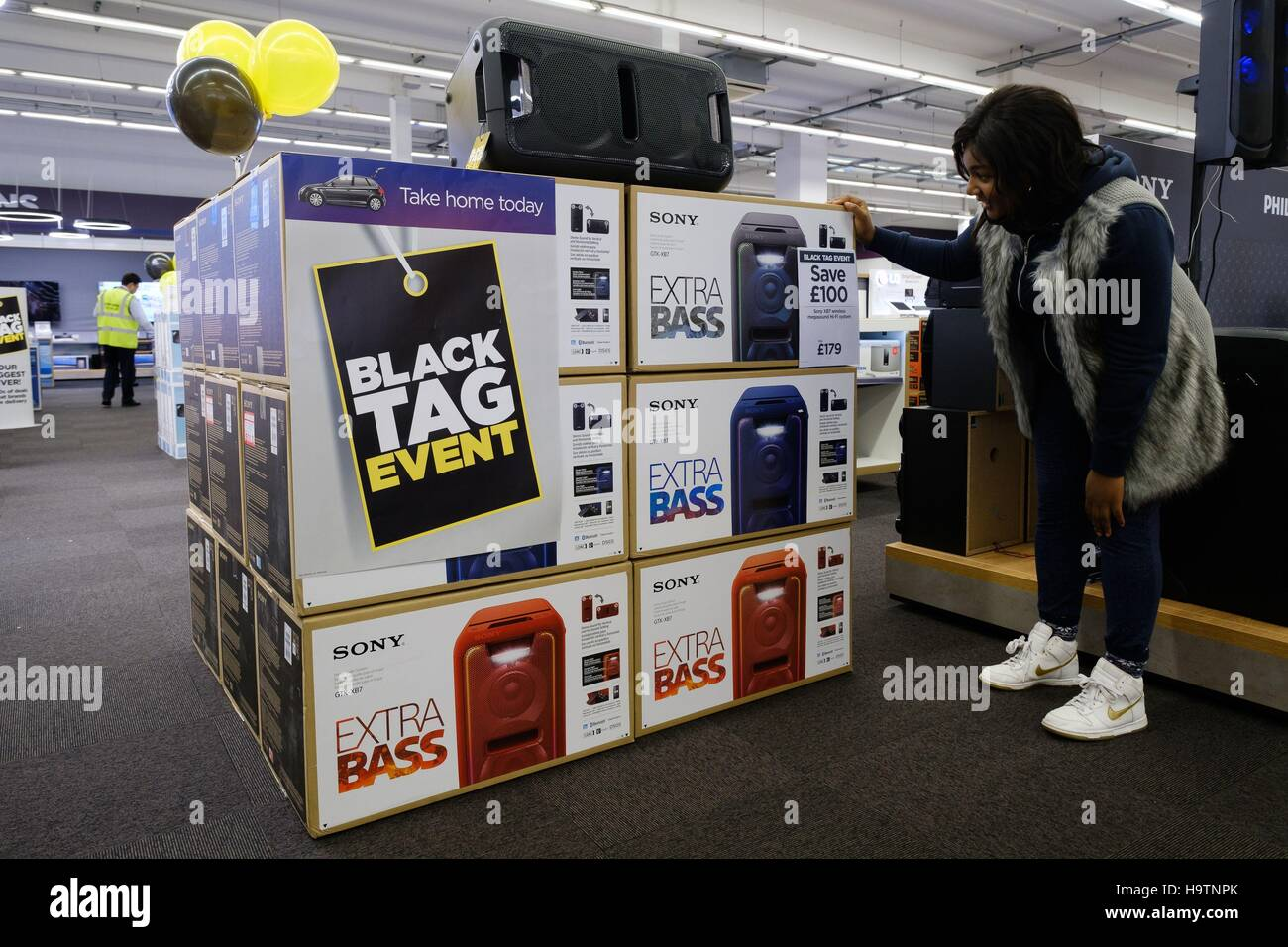 Editorial Use Only Black Friday Deals At One Of Currys Pc World And Stock Photo Alamy