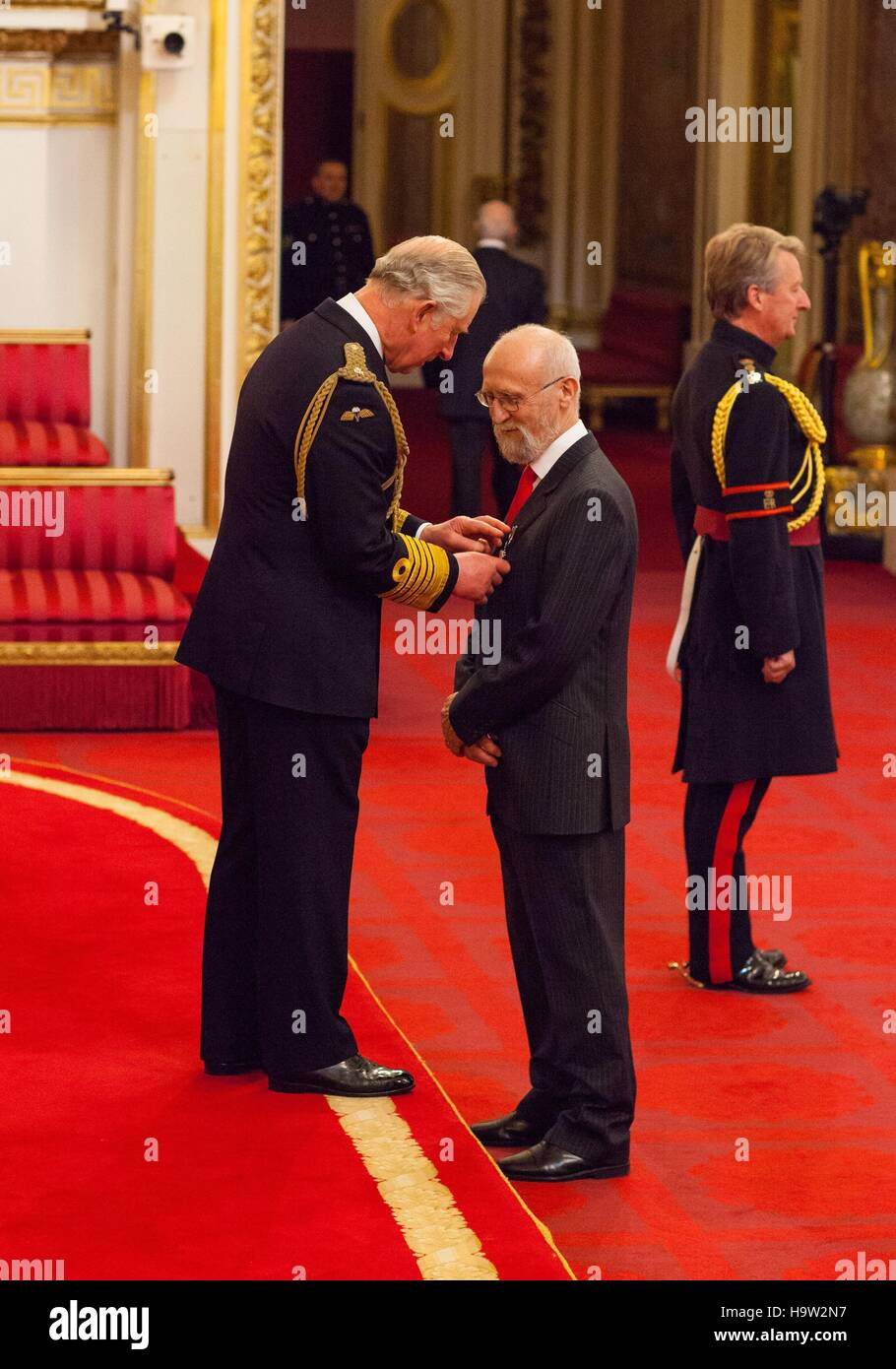 Dr Robert Campbell from York is made an MBE (Member of the Order of the British Empire) by the Prince of Wales at - Stock Image