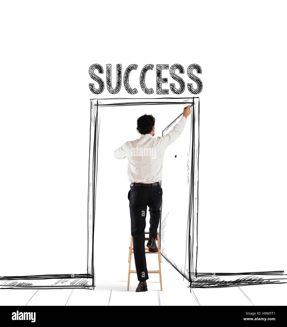 Success door Stock Photo
